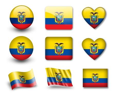 La bandera de Ecuador Foto de archivo - 12407130