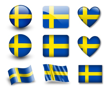 The Swedish flag Stock Photo - 12407039