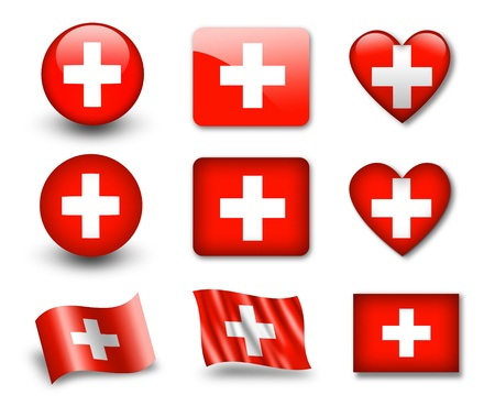 swiss: The Swiss flag