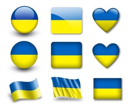 The Ukrainian flag photo