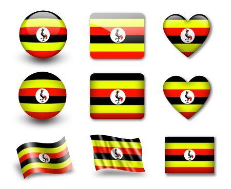 Uganda: The Uganda flag
