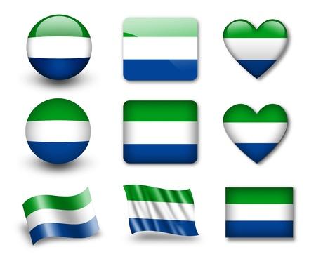 sierra: The Sierra Leone flag Stock Photo
