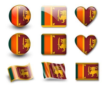 The Sri Lanka flag photo