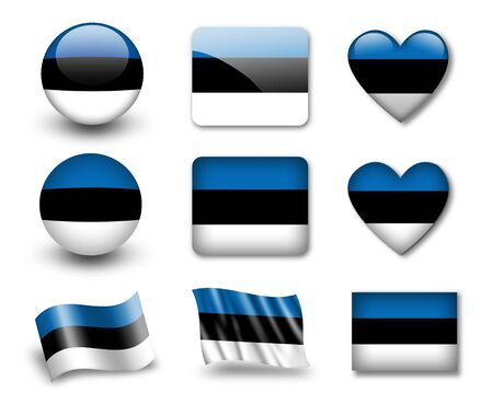 The Estonian flag Stock Photo - 12406965