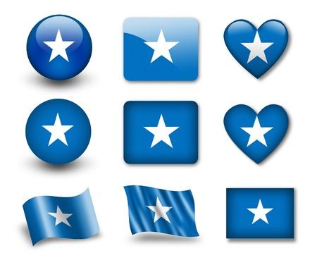 somalia: The Somalia flag