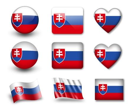 slovakia: La Slovacchia bandiera Archivio Fotografico