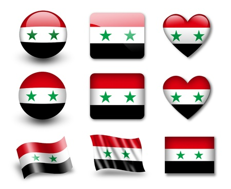 syria: Die Syrien Flagge