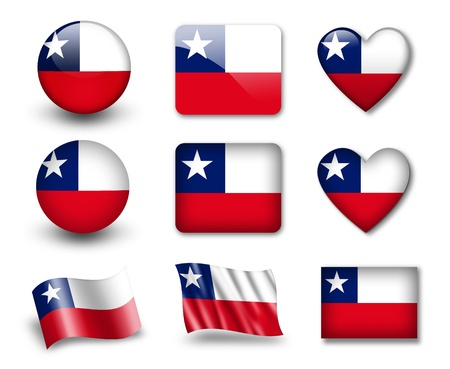 chile flag: The Chile flag Stock Photo