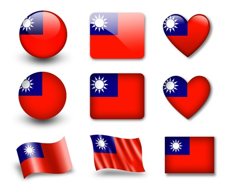 The Taiwan flag Stock Photo