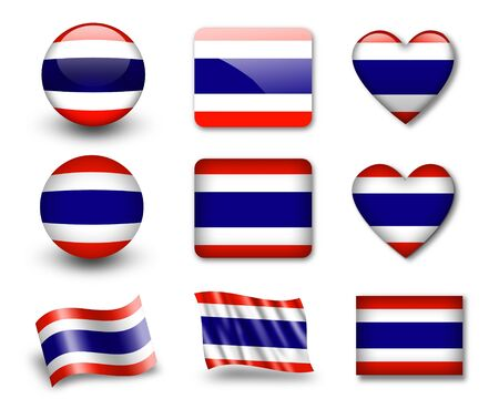 The Thai flag Stock Photo - 12406981