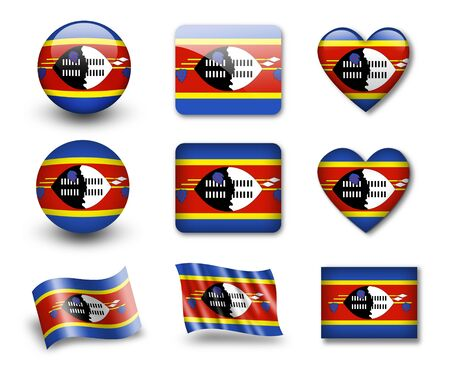 swaziland: The Swaziland flag Stock Photo