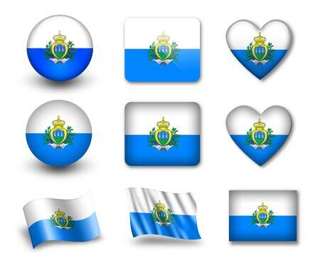 marino: The San Marino flag Stock Photo
