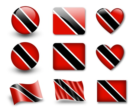 national flag trinidad and tobago: The Trinidad and Tobago flag