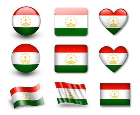The Tajik flag photo