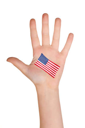 comp: The USA flag painted on the palm.