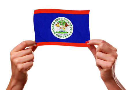 La bandera de Belice photo