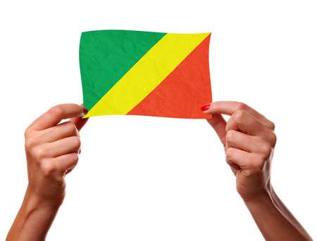 The Congo flag Stock Photo - 12407187
