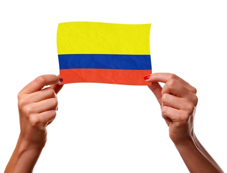The Colombian flag photo