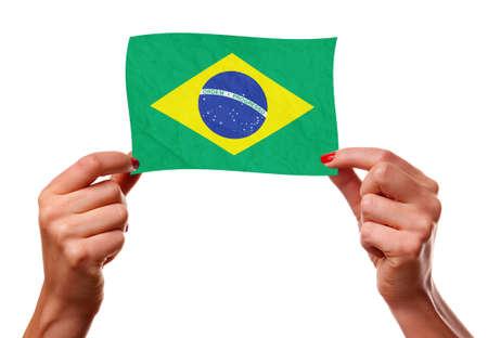 The Brazilian flag Stock Photo - 12407167
