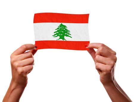 The Lebanese flag photo