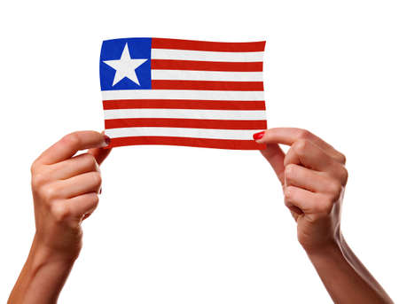 The Liberian flag Stock Photo - 12407178