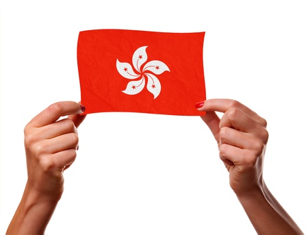 The Hong Kong flag photo