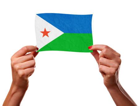 The Djibouti flag photo