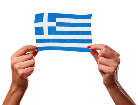 The Greek flag photo