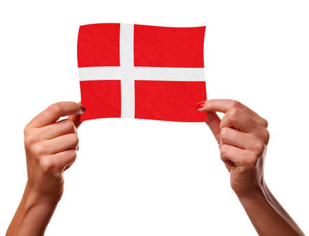 danish flag: The Danish flag Stock Photo
