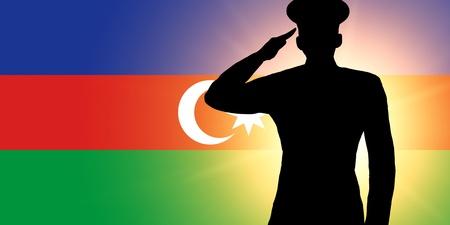 The Azerbaijani flag photo