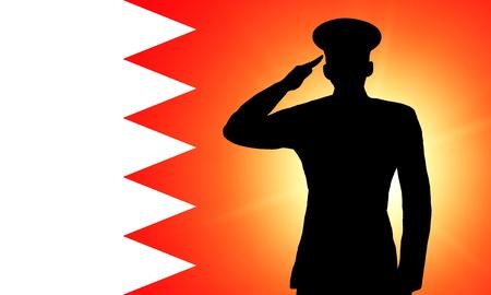 The Bahraini flag Stock Photo - 13996281