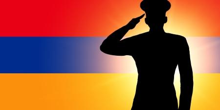 armenian: The Armenian flag Stock Photo