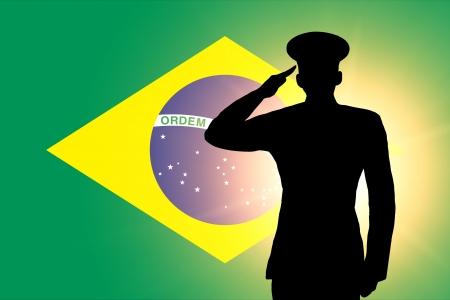La bandera de Brasil Foto de archivo - 13996319