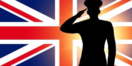 british army: The British flag