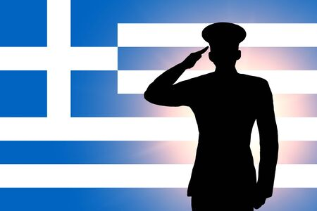 The Greek flag photo