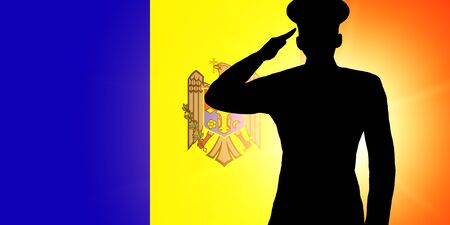 The Moldovan flag
