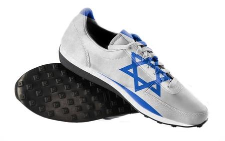 israeli: La bandera de Israel Foto de archivo