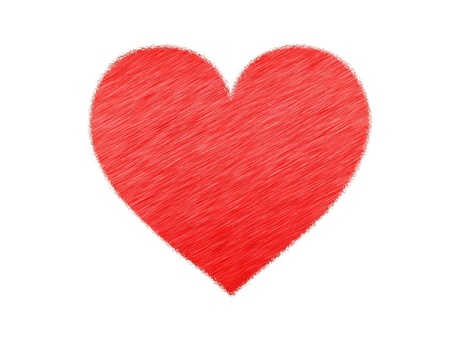 The texture of the heart in the style photo
