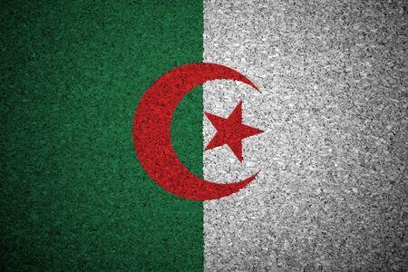 algerian flag: The Algerian flag painted on a cork board. Stock Photo