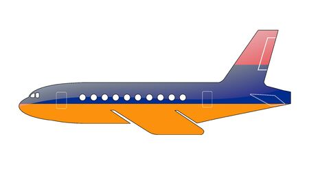 The Armenian flag painted on the silhouette of a aircraft. glossy illustration Stock Illustration - 15432466