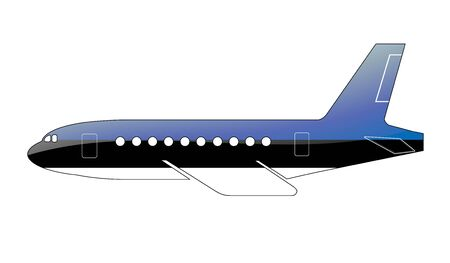 The Estonian flag painted on the silhouette of a aircraft. glossy illustration
