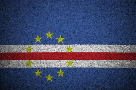 cape verde flag: The Cape Verde flag painted on a cork board.