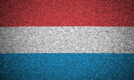 The Luxembourg flag painted on a cork board. photo