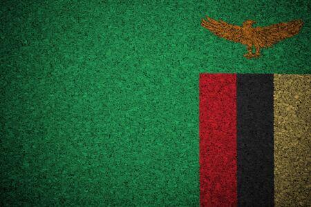 zambian: The Zambian flag painted on a cork board.