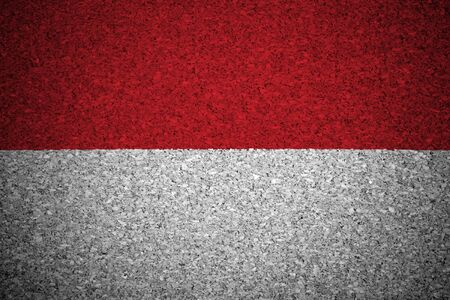 the indonesian flag: The Indonesian flag painted on a cork board. Stock Photo