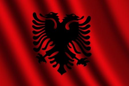 La bandiera albanese Archivio Fotografico - 15650511