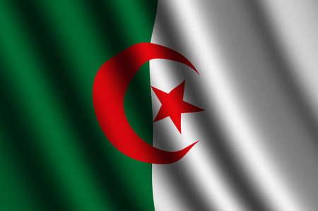 Algierski: Flaga Algierii Zdjęcie Seryjne