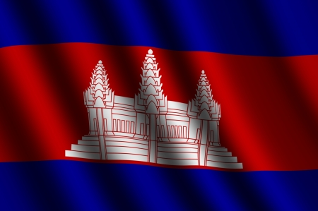 cambodian flag: The Cambodian flag Stock Photo