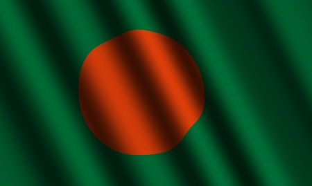 The Bangladesh flag photo