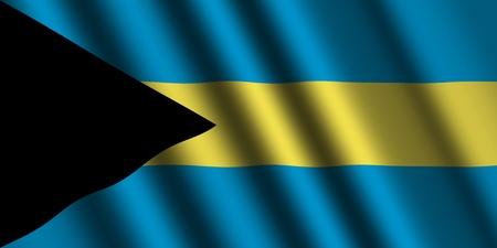 bahamas celebration: The Bahamas flag